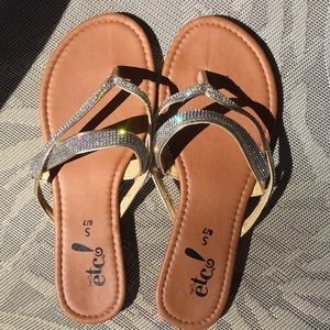 Etc rue 21 rhinestone sandals